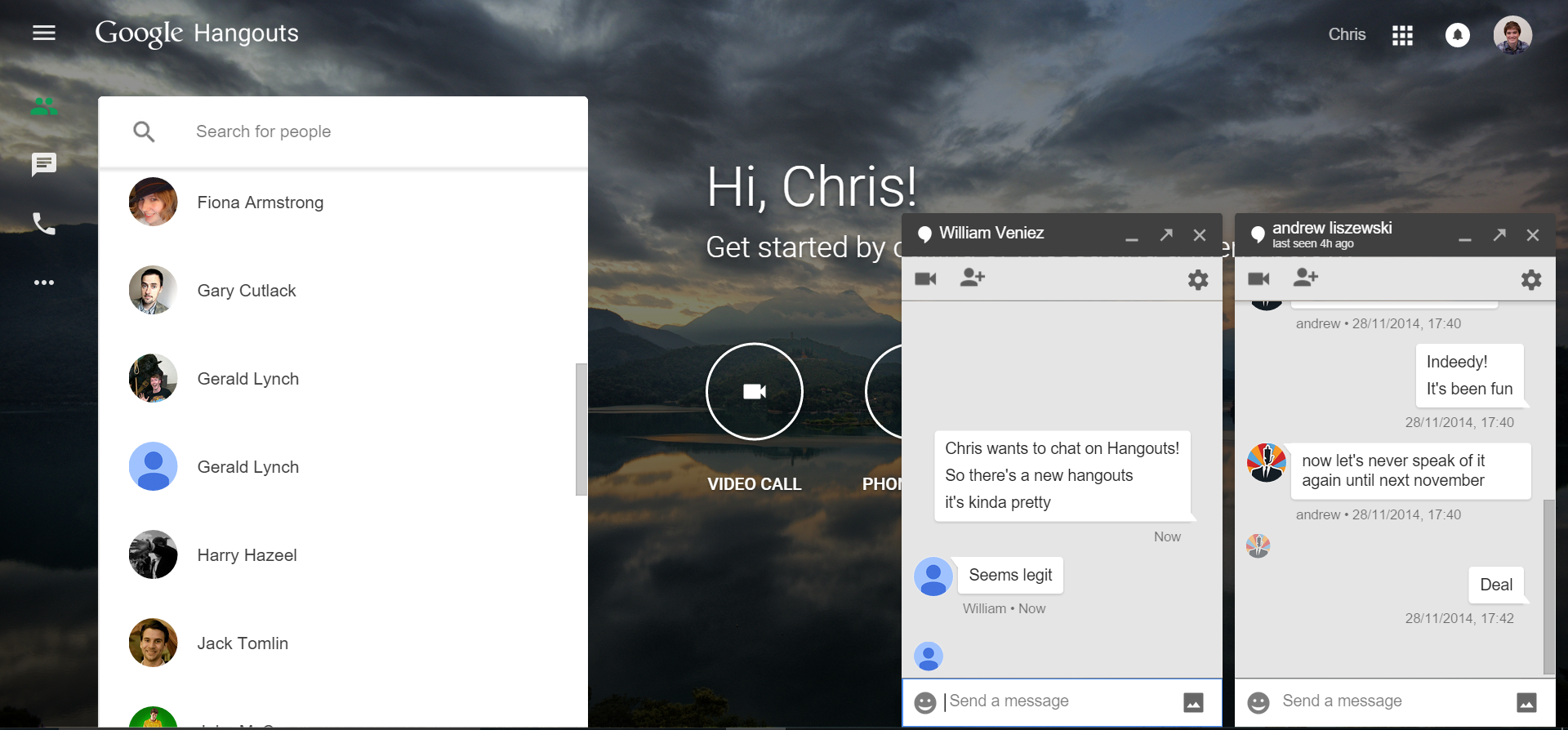 Google Hangouts Has A Gorgeous New Home On The Web