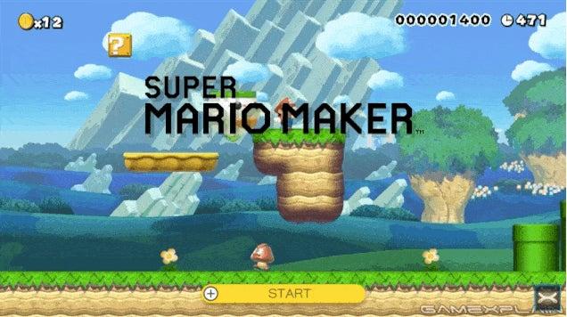 Super Mario Maker's Title Screen Is Full Of Easter Eggs