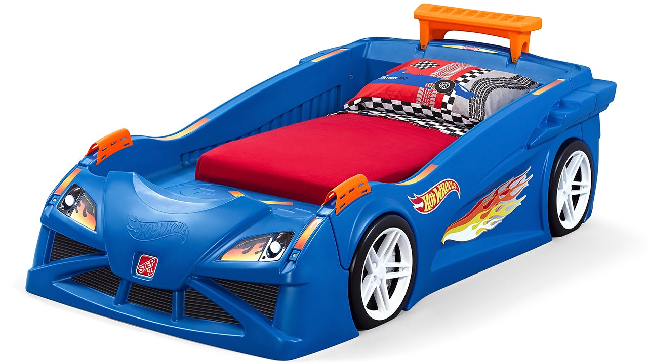 This Race Car Bed Is a Giant Extension Of Your Kid's Hot Wheels Tracks