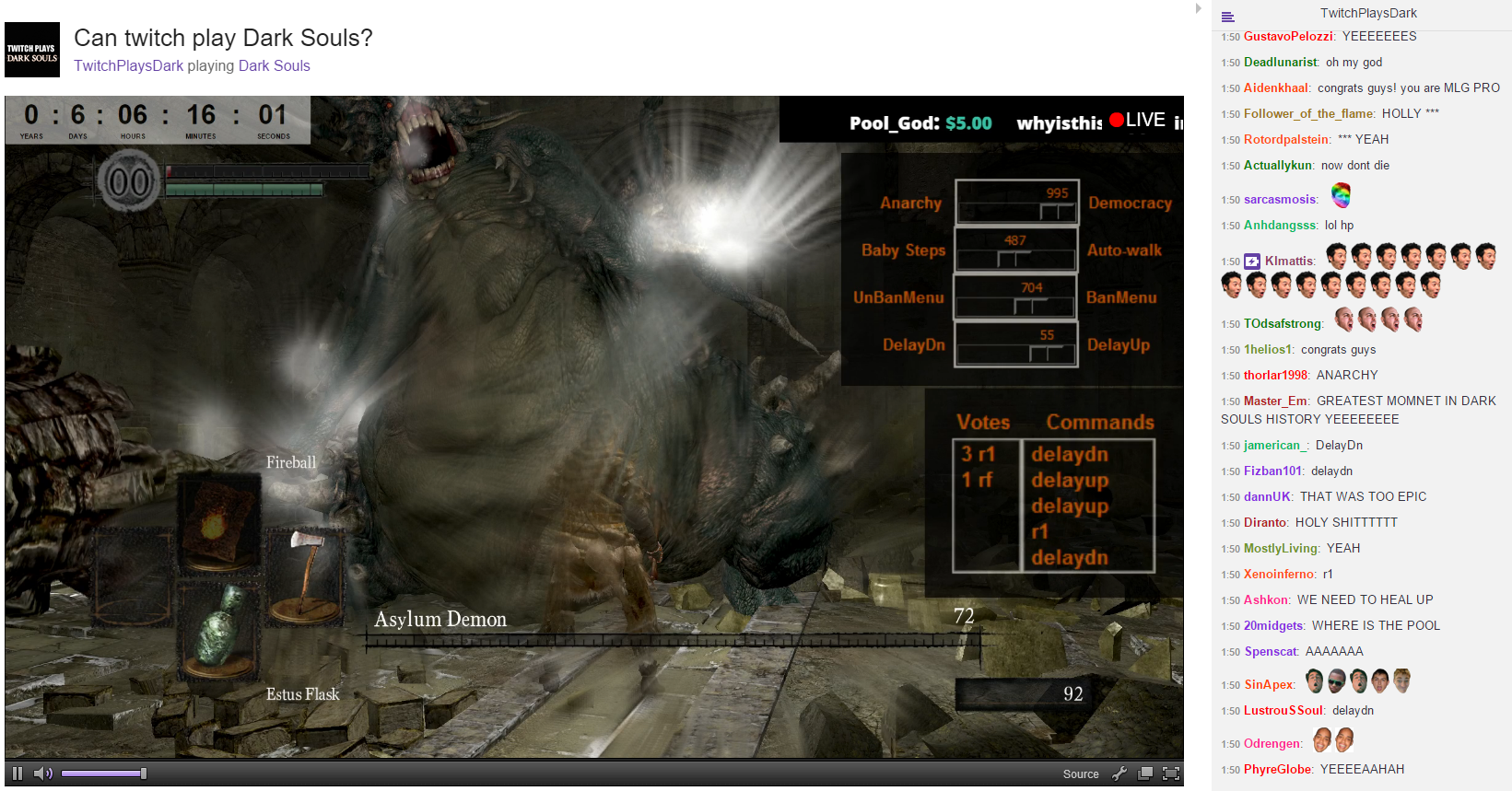 Wow, Twitch vs Dark Souls Just Beat The Asylum Demon