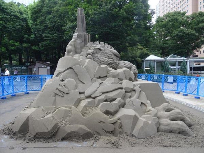 Another Large Godzilla Appears in Tokyo, But It's Made of Sand