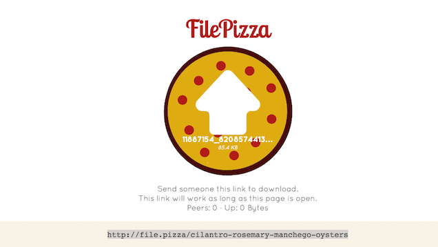 FilePizza Does Peer-to-Peer File Sharing In Your Web Browser
