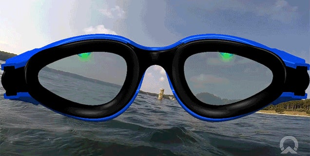 LED Guides in These Goggles Keep Open Water Swimmers on Course