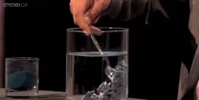 Hydrophobic sand turns to goo in water and magically turns back to sand when dry