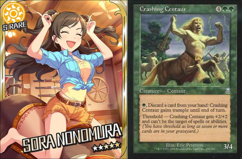 Odd Meme: Comparing Anime Cards with Magic the Gathering