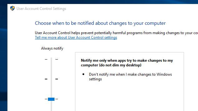 Make Windows' User Account Control Prompts Less Intrusive
