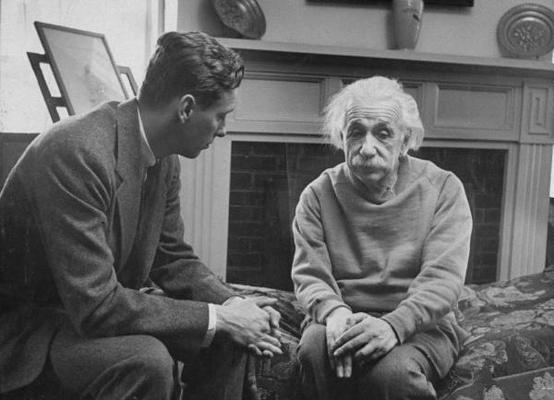 This is NOT Albert Einstein With His Therapist