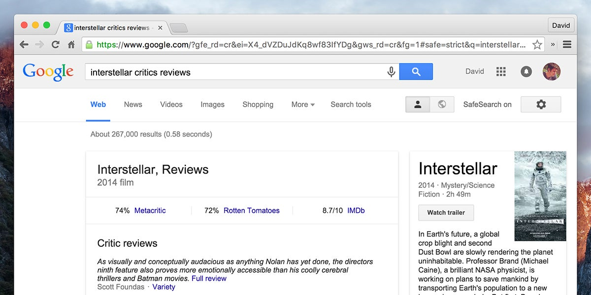 How To Get Instant Movie Reviews From Google
