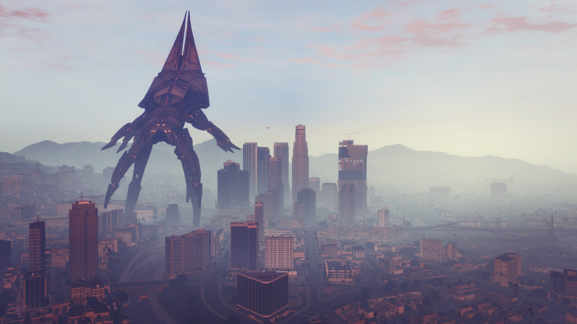 GTA V Mod Swaps Harmless Blimps For Mass Effect's Reapers