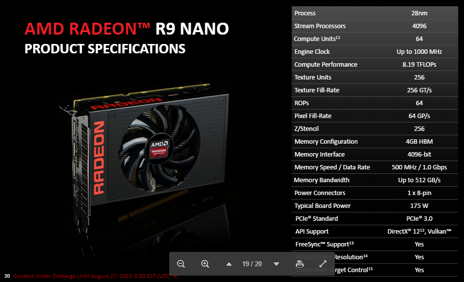 AMD's Powerful New R9 Nano Graphics Card Fits In Small Places