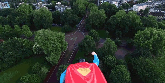 A Superman Toy On a Flying Drone Is More Entertaining Than Man of Steel Was