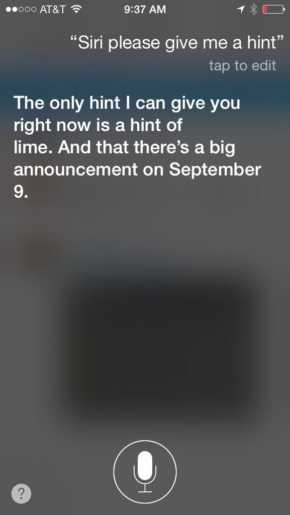 Siri Has a Lot To Say About Apple's Big Announcement