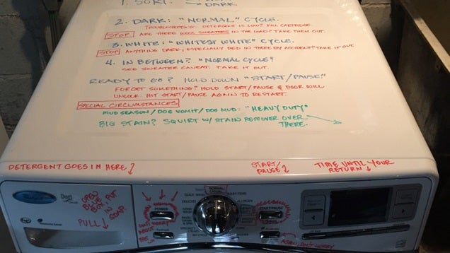 Teach Kids to Do Their Laundry With Dry Erase Marker Instructions