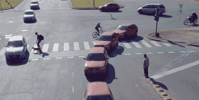 This GIF is Amazing, But Those Aren't Self-Driving Cars
