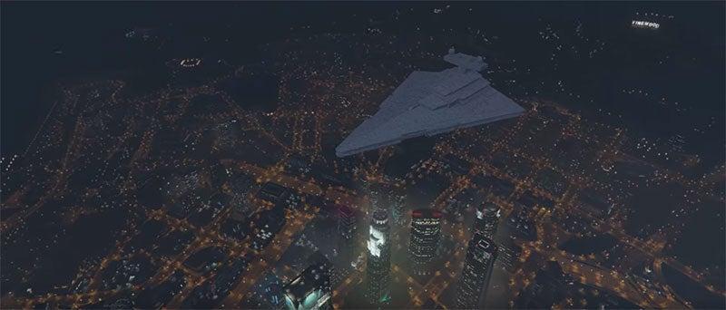 Star Destroyer Mod Brings Space Death To GTA V