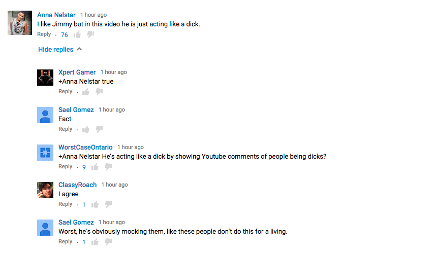Jimmy Kimmel Responds to YouTube Backlash