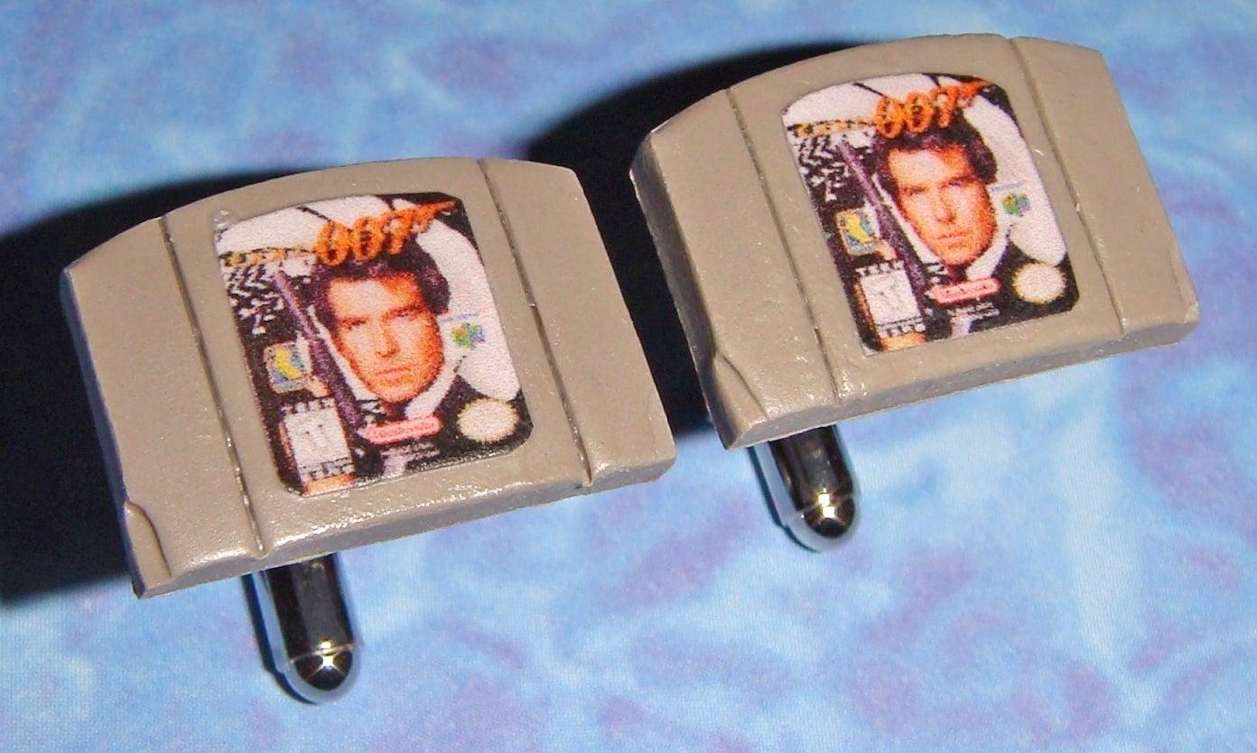 Nothing Is Classier Than GoldenEye N64 Cartridge Cufflinks