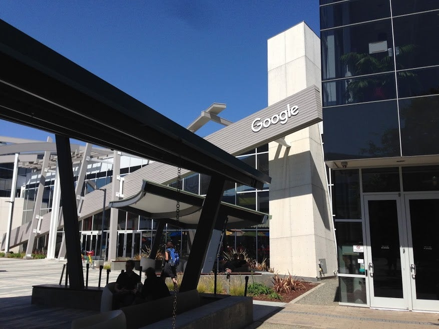 The Googleplex Is Already Sporting the New Logo