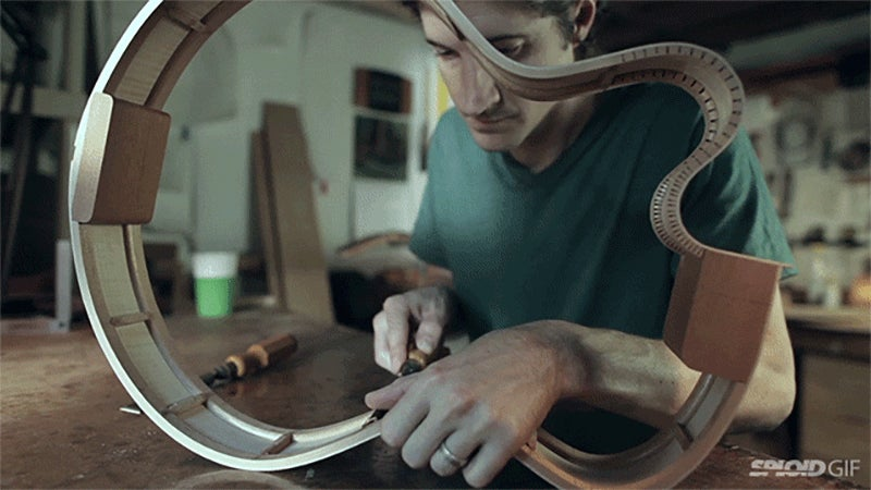 Video: The scientific art of sound when making a guitar