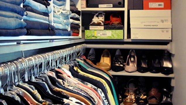 Keep a Closet More Organised by Putting Your Most-Used Items at Eye Level