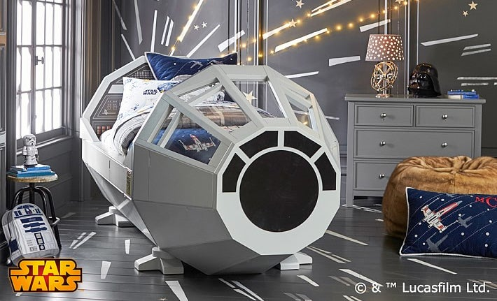 Crap, it Turns Out That Pottery Barn Millennium Falcon Bed Costs $US4,000