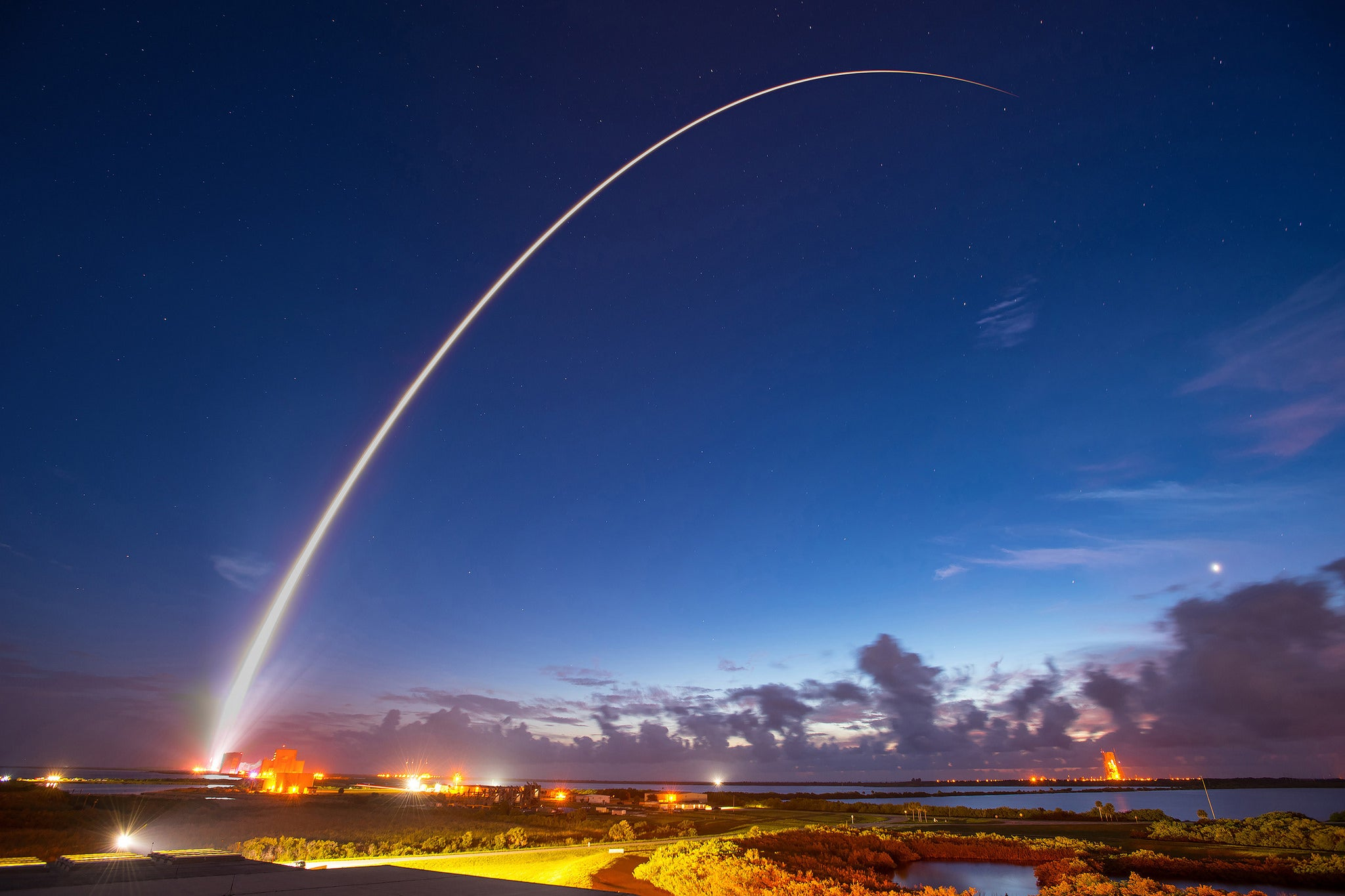 The striking launch of a satellite
