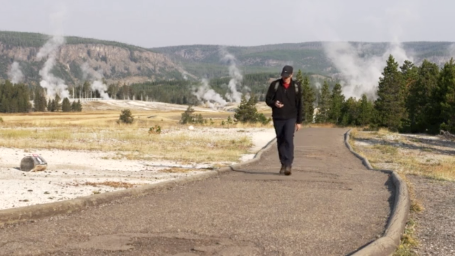 New Pavement Made From Tires Will Save Old Faithful's Groundwater