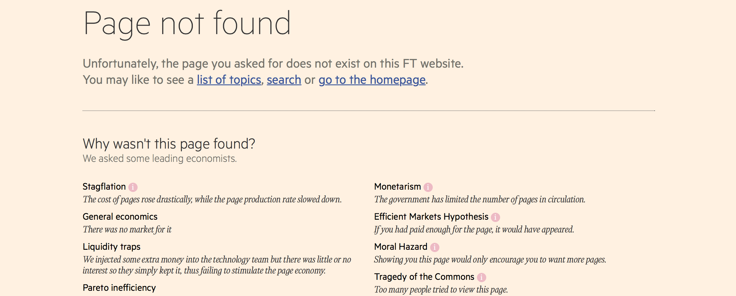 Only Smart People Will Understand the FT's Amazing New 404 Page