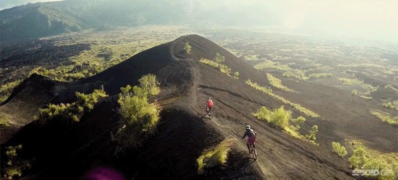 Biking through Bali is like exploring a wonderland