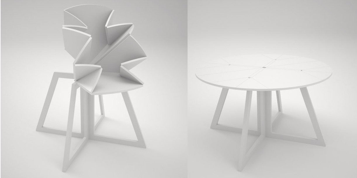 This Folding Table Is Inspired By a Pop-Up Map of New York City