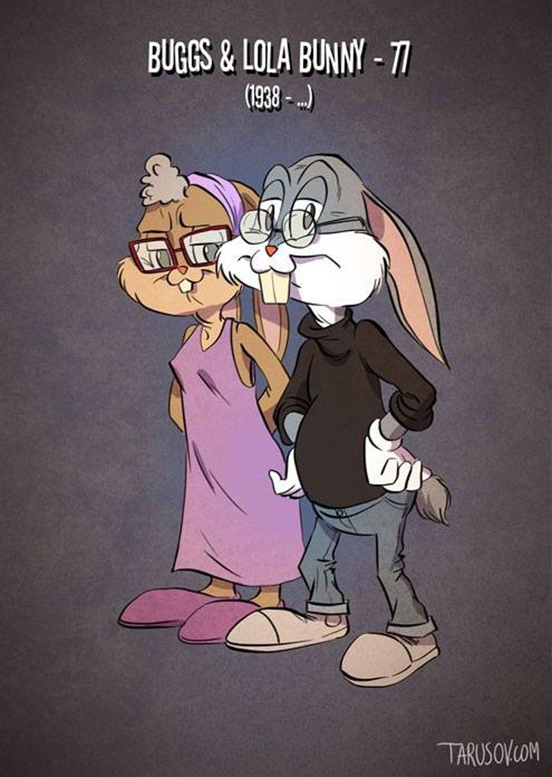 If Cartoon Characters Got Old