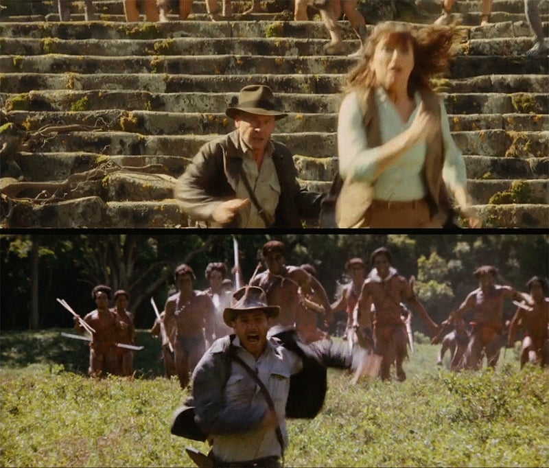 How visually similar Indiana Jones 4 was to the original movies