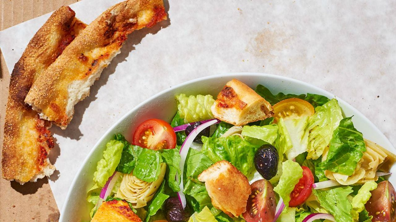 Make Croutons From Leftover Pizza For the Best Salad Ever