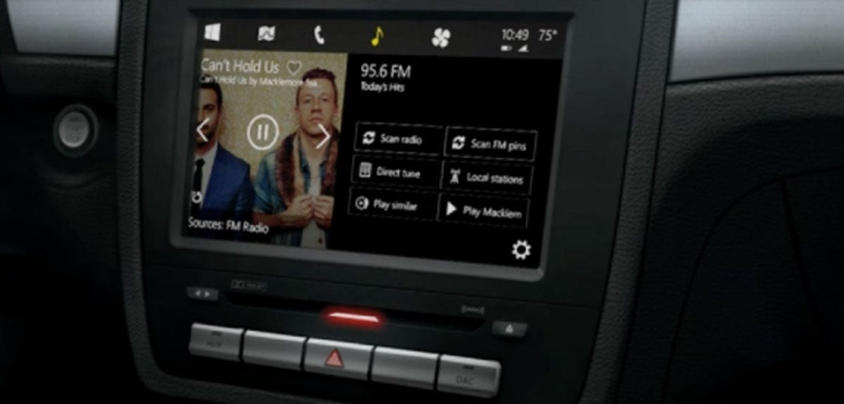 Microsoft May UseCortana To Control Its Windows-in-the-Car System