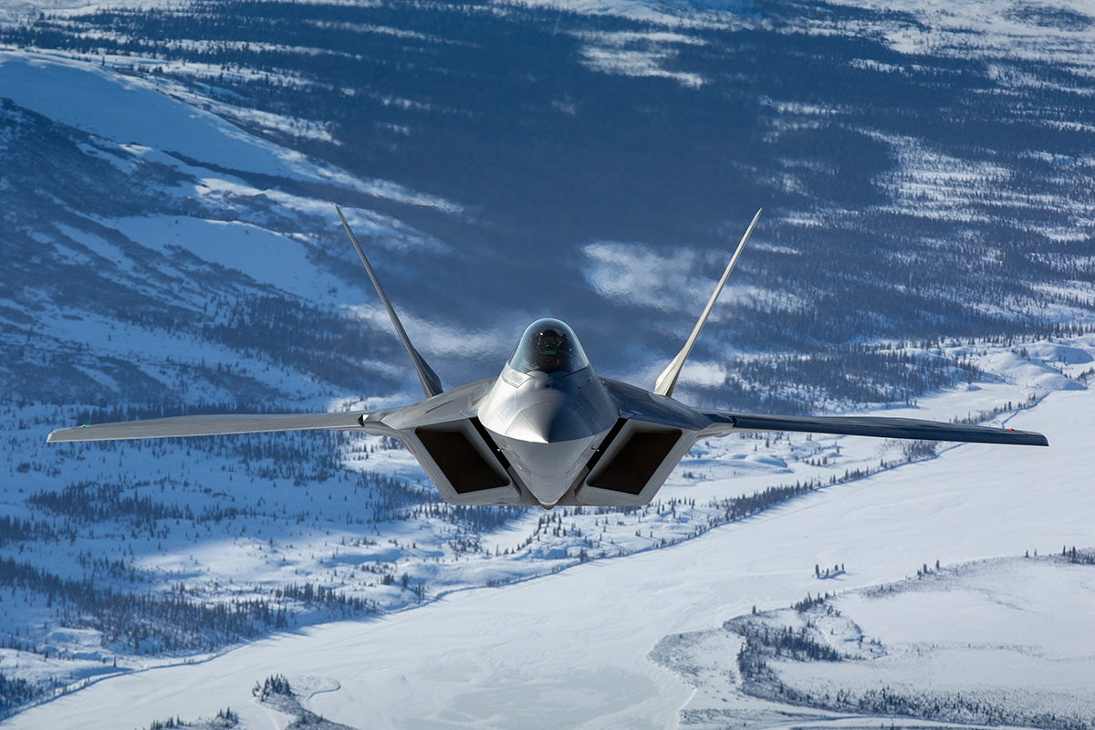 These photos of F-22 Arctic Raptors in Alaska are so striking they look unreal