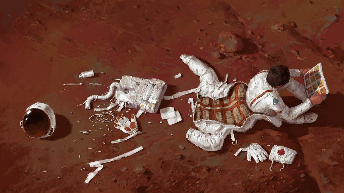 Comic Book Terraforms Mars