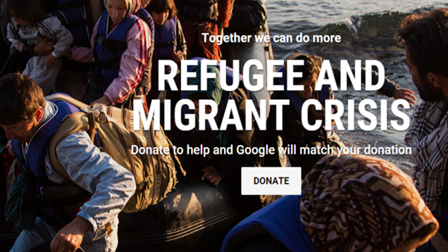 Google Will Match Your Donation Towards the Refugee Crisis