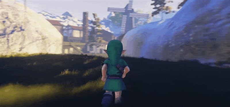 Ocarina Of Time's Kakariko Village Is Breathtaking In Unreal Engine 4