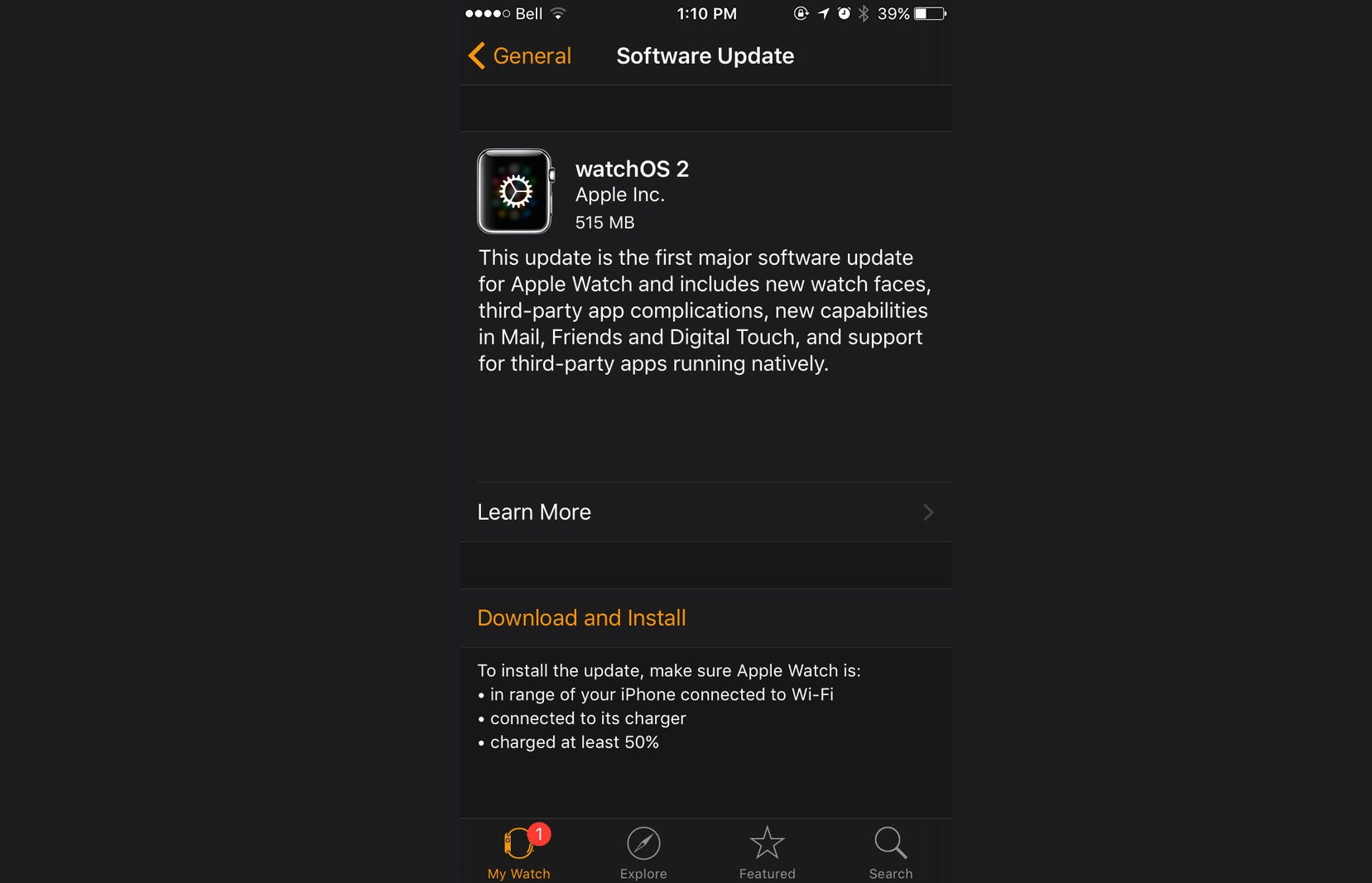 WatchOS 2 Is Finally Available for Apple Watch