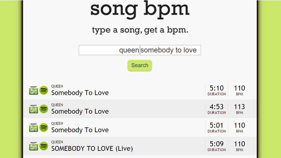 Song BPM Finds The BPM Of Your Music With Just An Artist And Title