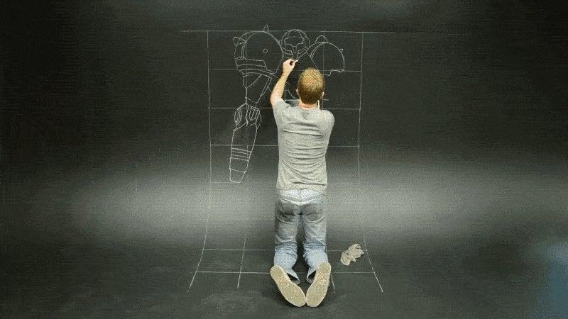 Drawing a 3D Samus Looks Like a Tough Job