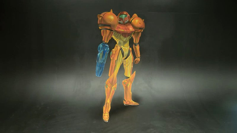 Drawing a 3D Samus Looks Like a Tough Job
