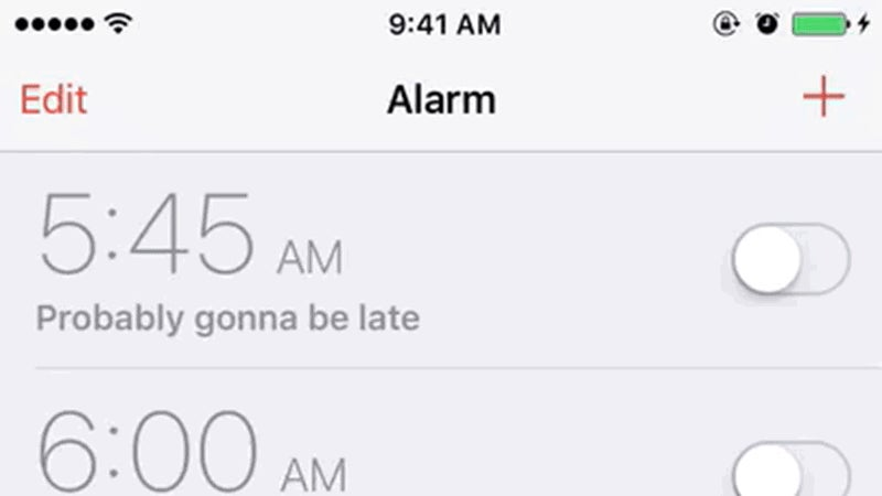 Swipe to Delete Alarms in iOS 9