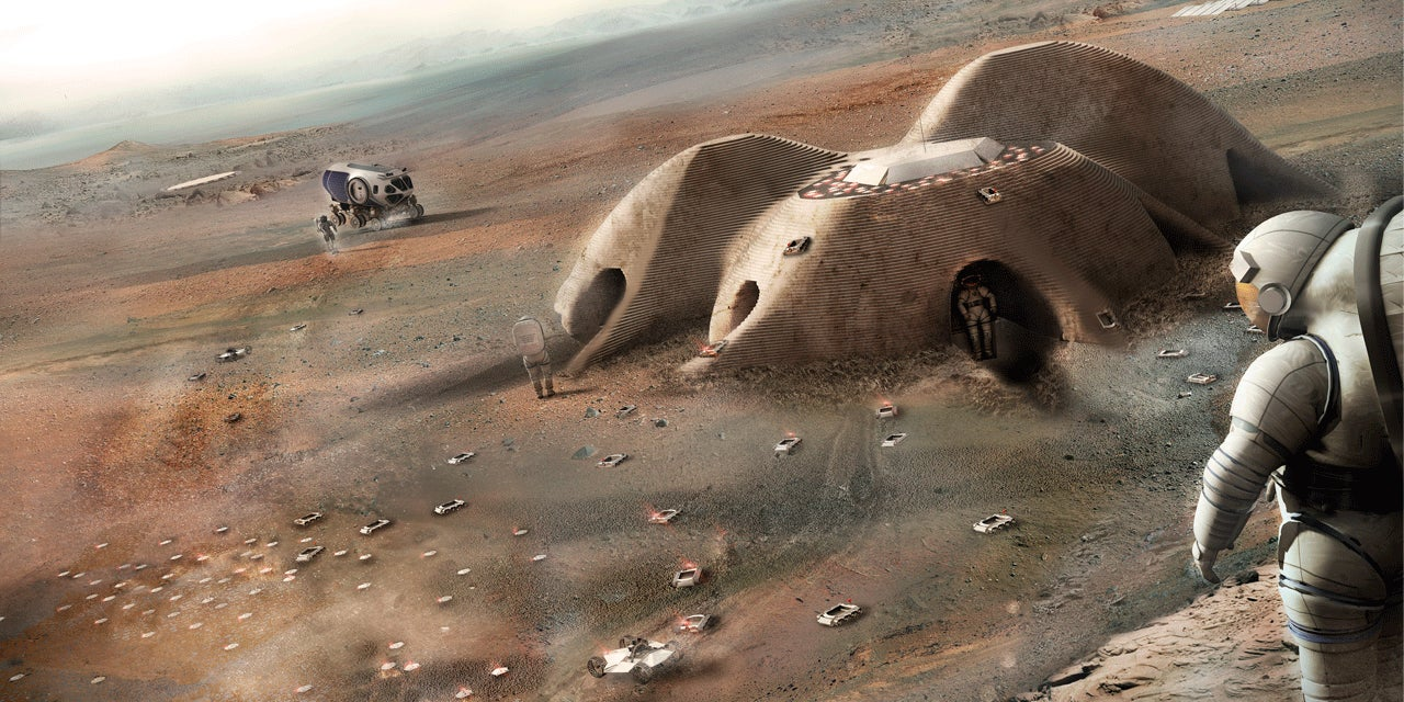 This Is How Foster + Partners Wants to 3D-Print a Martian Settlement
