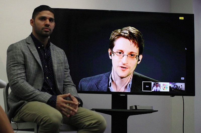Live From Moscow, Edward Snowden Helped Launch A Proposed Treaty In His Name