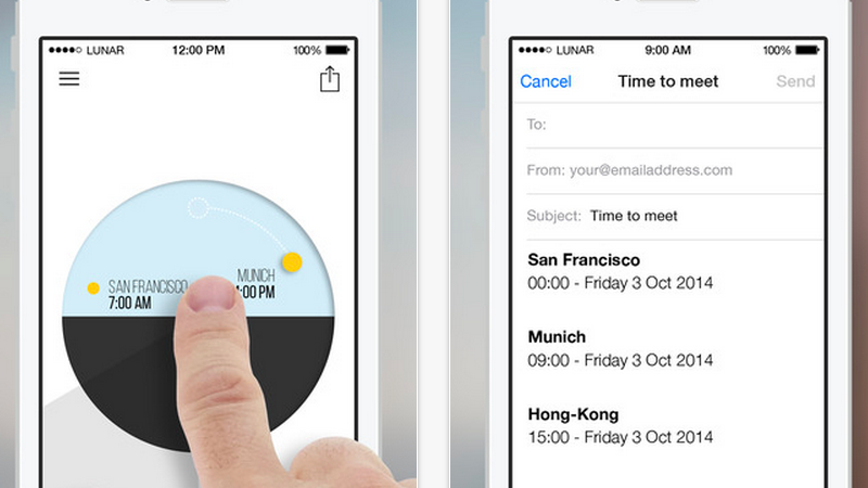 OneTime Organizes Multiple Time Zones in One Easy to Read Clock