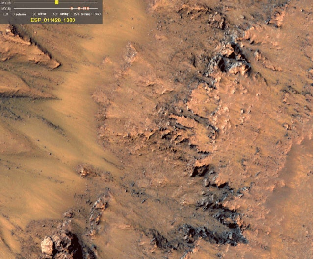 NASA Says There's Strong Evidence of Liquid Water on Mars