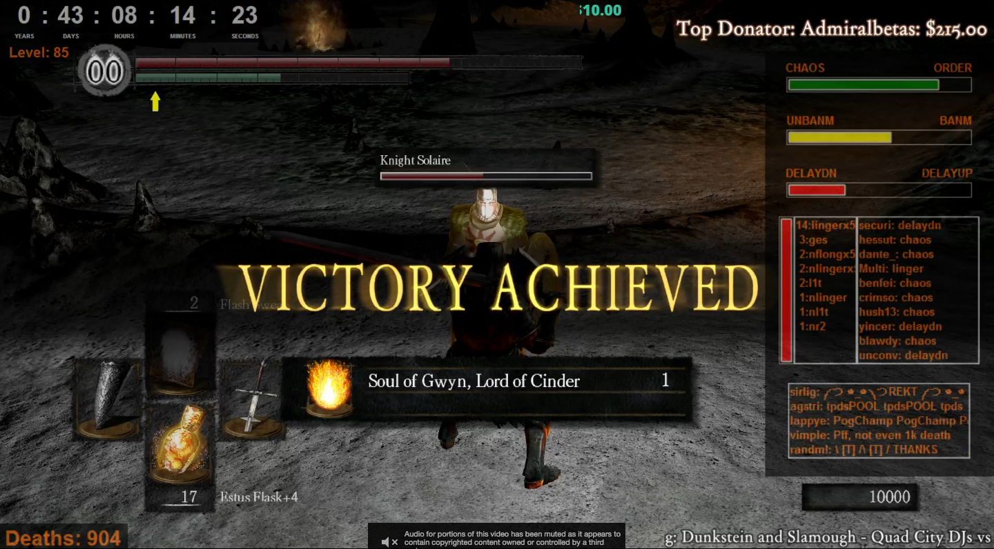 43 Days Later, Twitch Has Beaten Dark Souls