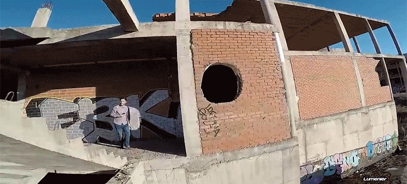 Watch an incredible drone fly at crazy speeds through an abandoned building