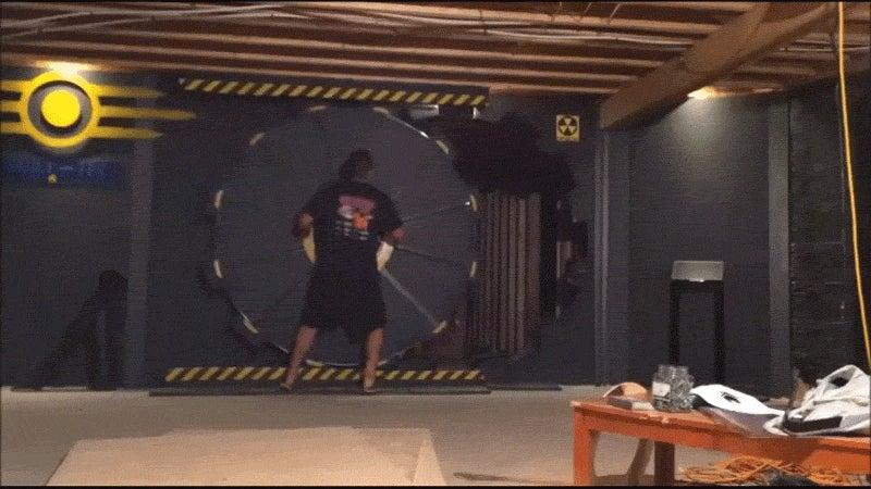 Guy Builds Gaming Room With Fallout Vault-Tec Door